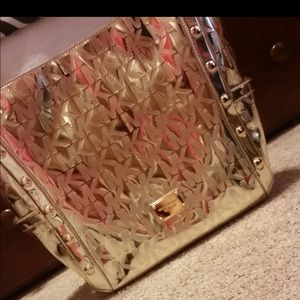 Michael Kors shiny gold large purse